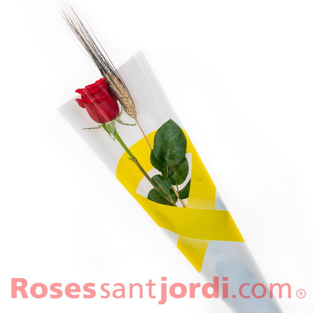 Rosa Sant Jordi llaç groc
