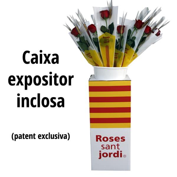 Caixa expositor roses sant jordi