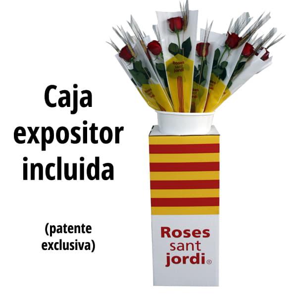 Caja expositor Rosas Sant Jordi