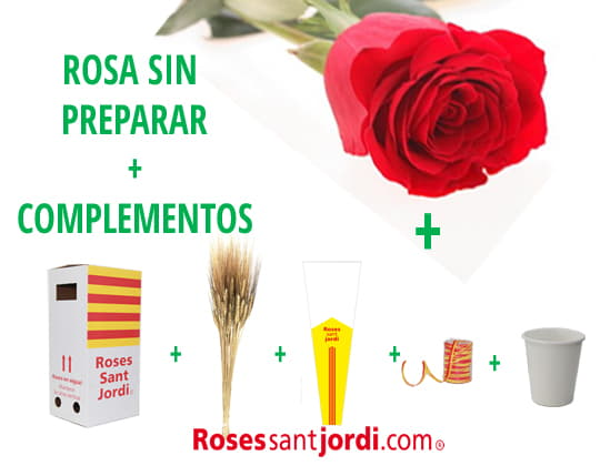 Rosa de Sant Jordi + complementos