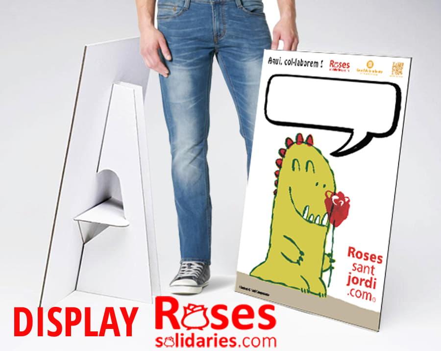 Display apoyo a la venta Sant Jordi precio rosas