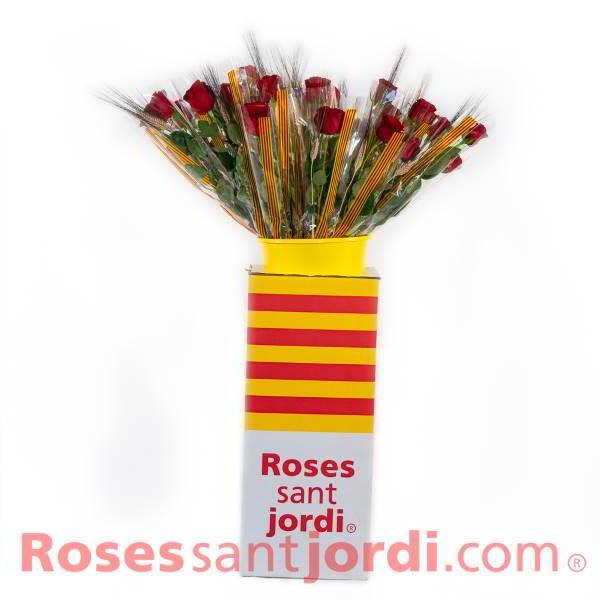 Rosa Sant Jordi Expositor