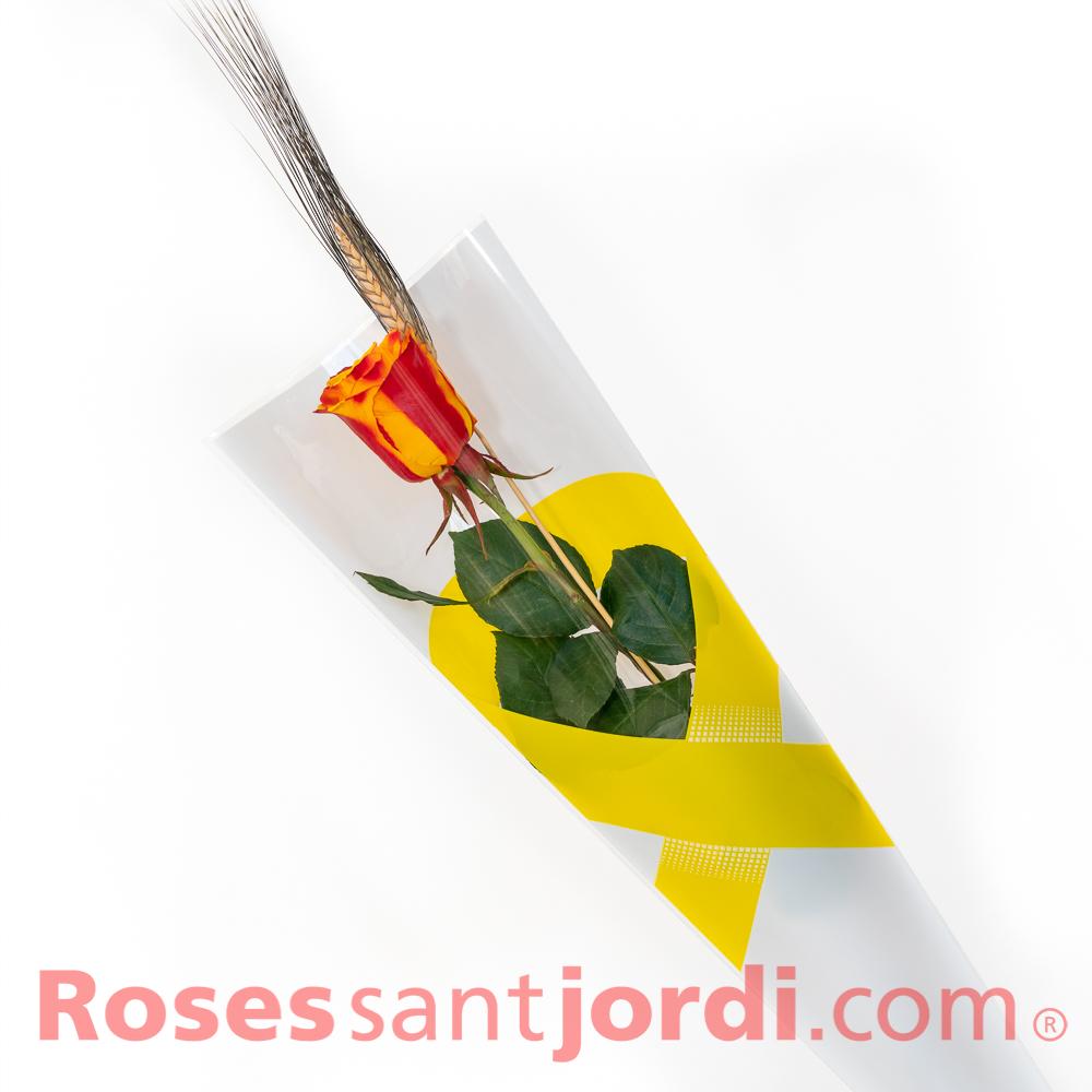 Rosa senyera bossa llaç