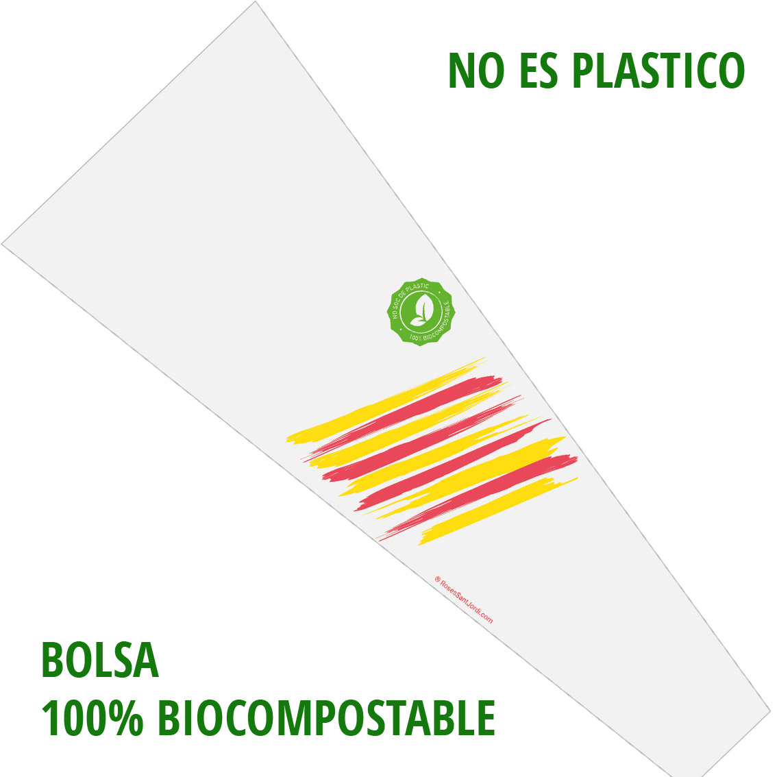 Rosa Sant Jordi Biocompostable