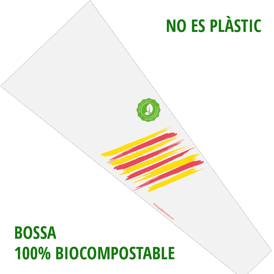 Bossa roses Sant Jordi Biocompostable