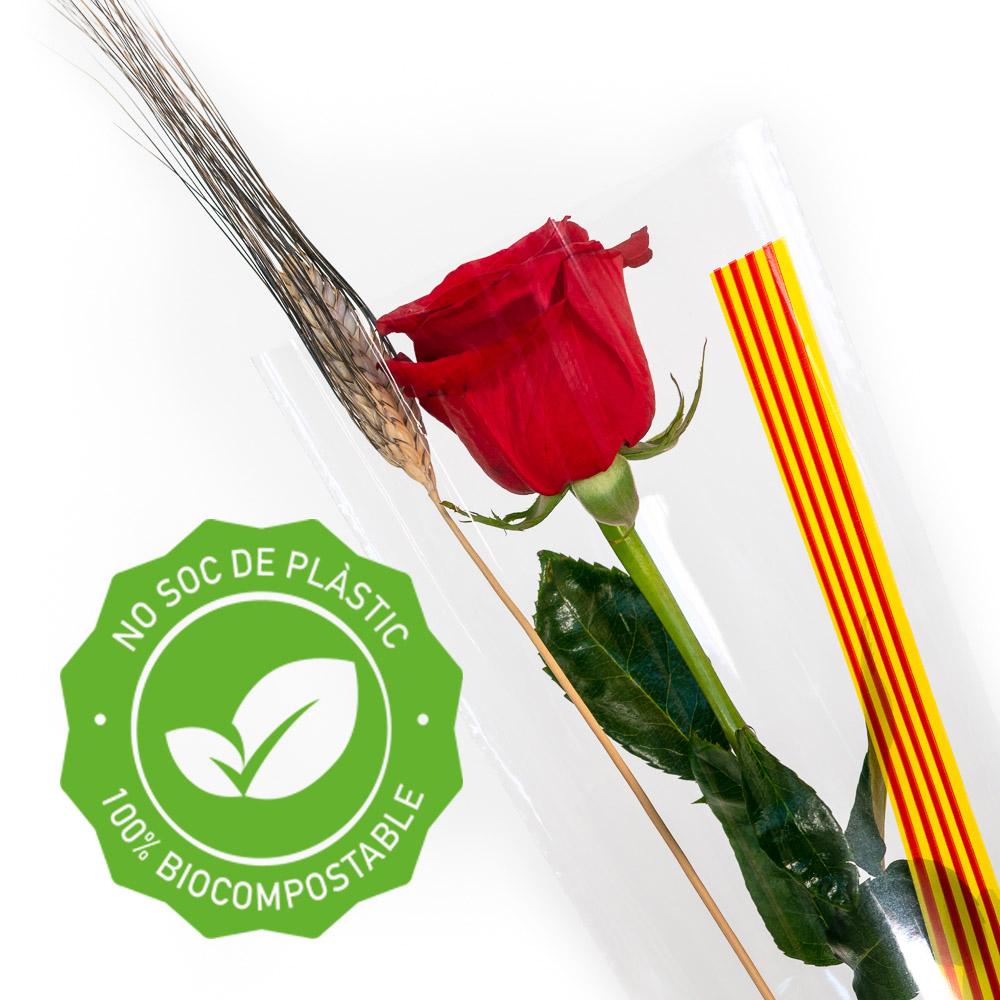 Rosa Sant Jordi sense plastic