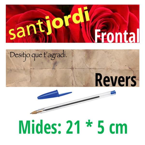 Targeta Punt de Llibre Sant Jordi